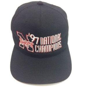 HUSKERS Hat National Champions '97 Wool Blend VTG